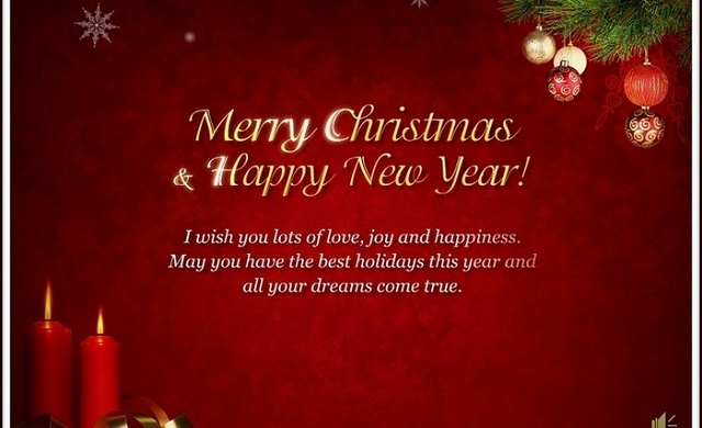 Merry Christmas and Happy New Year Messages