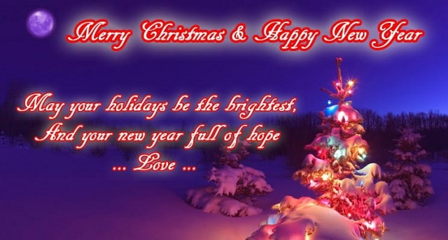 Merry Christmas and Happy New Year Wishes