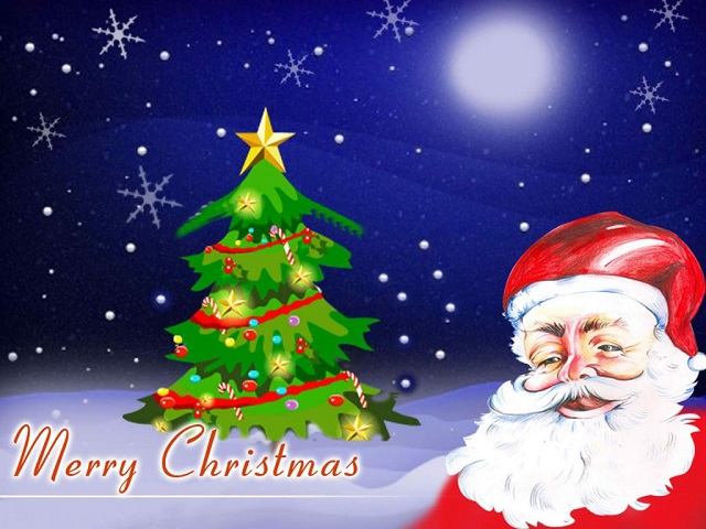 Christmas Image with Santa Animated