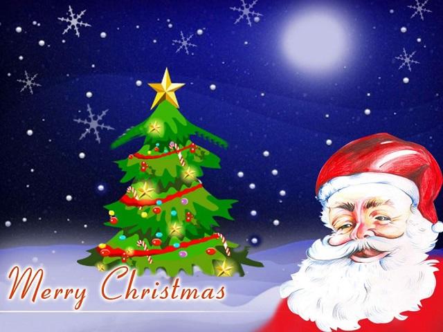 Christmas Image with Santa Animated